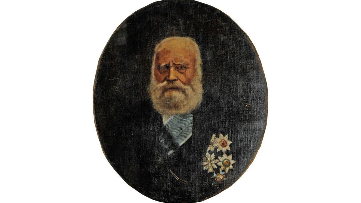 Ο Κωνσταντίνος Κανάρης σε μεγάλη ηλικία, με τα παράσημά του. Ν. Κεσσανλής, λάδι σε μουσαμά, 1889 (ΕΙΜ 8946). © ΙΕΕΕ-ΕΙΜ.