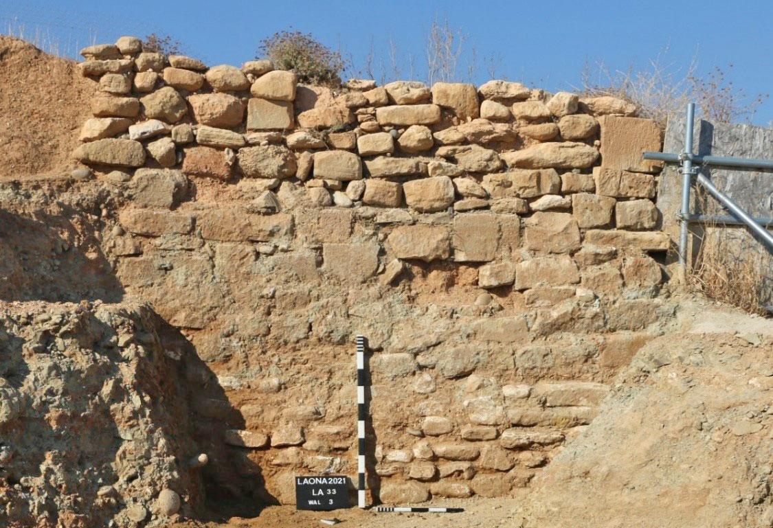Λαόνα – η λίθινη όψη του τείχους. Φωτ.: Τμήμα Αρχαιοτήτων Κύπρου.