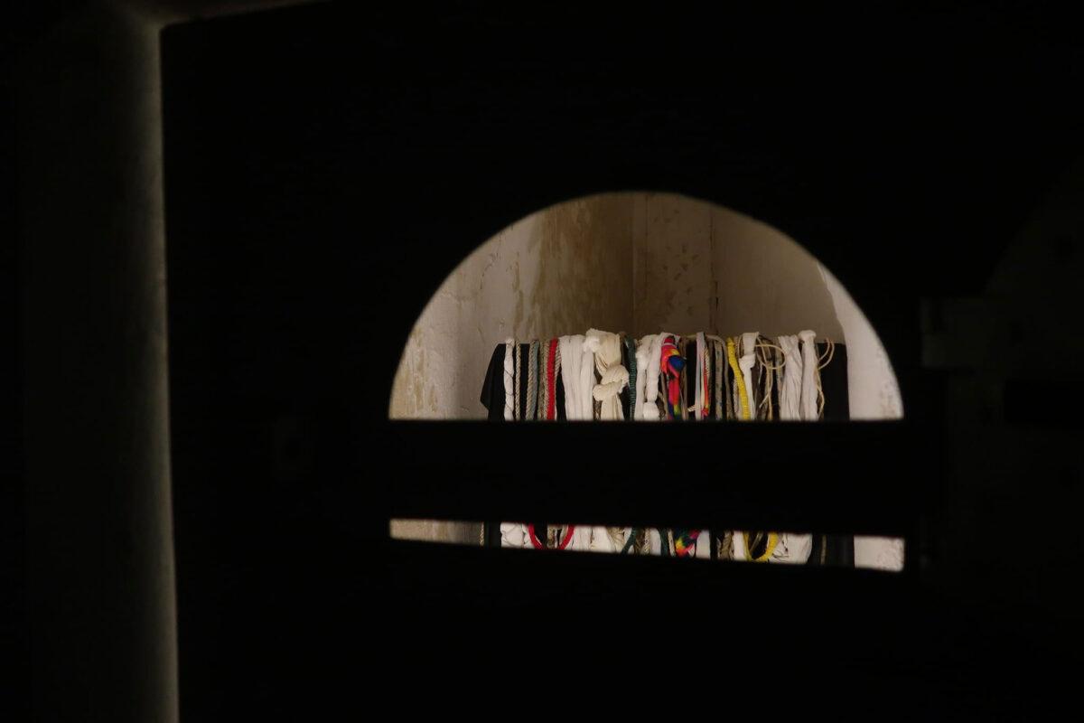 «Εντός ορίων». Άποψη της έκθεσης της Μαρίας Κομπατσιάρη (φωτ.: ΕΦΑΠΟΘ).