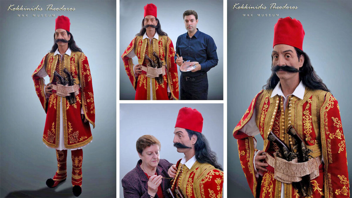 Ο Γεώργιος Καραϊσκάκης στο μουσείο κέρινων ομοιωμάτων του Θ. Κοκκινίδη