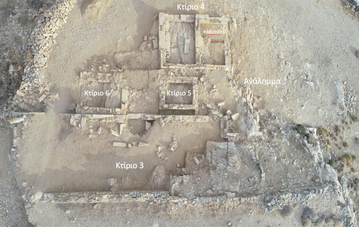 Εικ. 3. Αεροφωτογραφία του ιερού της Δήμητρας και Κόρης (φωτ.: Α. Μαζαράκης Αινιάν).