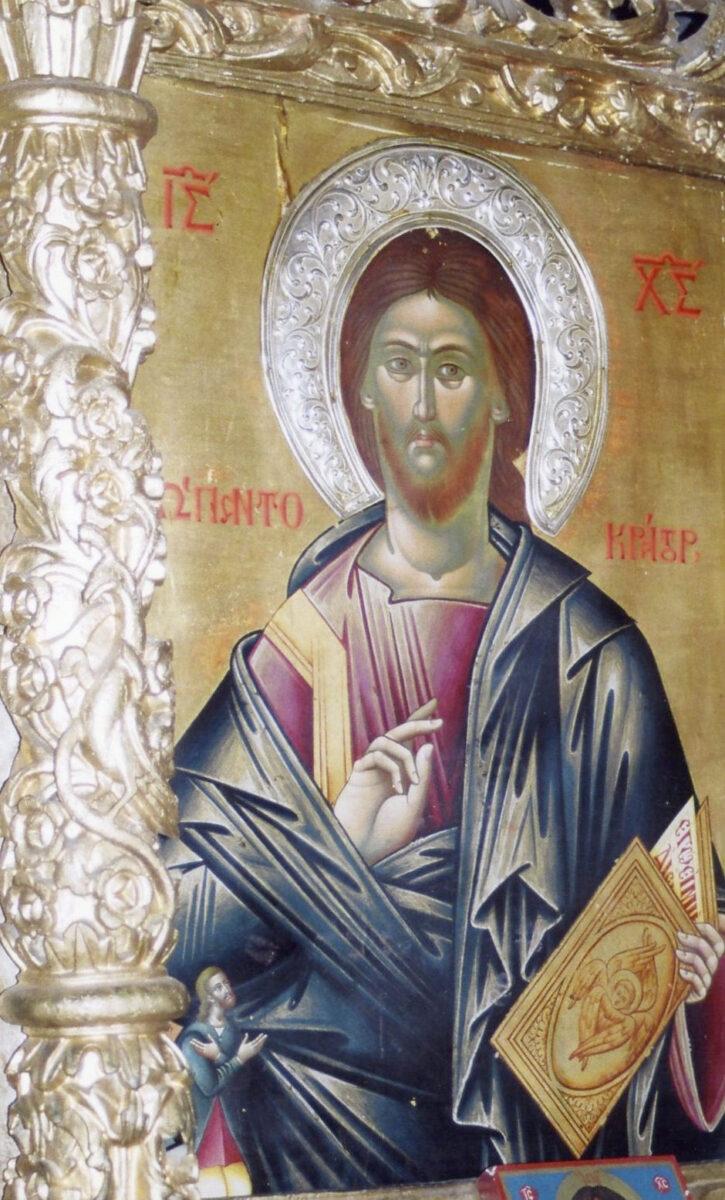 Η εικόνα του Χριστού Παντοκράτορα πριν από την κλοπή (φωτ.: ΥΠΠΟΑ).