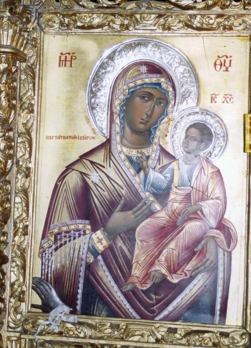 Η εικόνα της Παναγίας Πορταΐτισσας πριν από την κλοπή (φωτ.: ΥΠΠΟΑ).