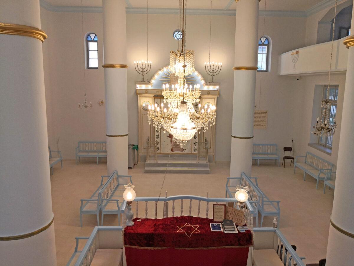 Στη Συναγωγή των Τρικάλων (φωτ.: ΑΠΕ-ΜΠΕ / Αποστόλης Ζώης).